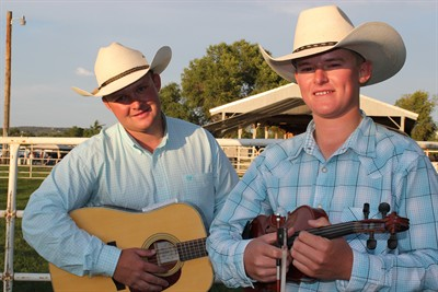 by: Photo by Holly Gill - Brothers Cody, left, and Clay Brewer won first place in the Fair Talent Show.
