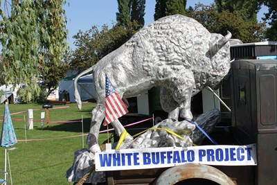 by: Photo by Susan Matheny - The buffalo statue was on display at the Jefferson County Fair.