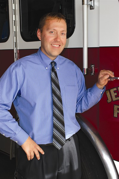 by: Photo by Holly M. Gill - Brian Huff, of Madras, was chosen last week as the new fire chief for Jefferson County Fire District No. 1.