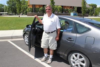by: Photo by Holly M. Gill - Gary Graunke has been traveling the state promoting the use of electric vehicles and encouraging communities to look into charging stations – particularly in key corridors.