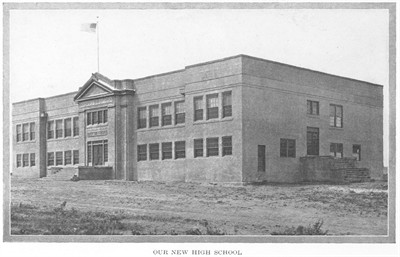 by: Submitted Photo - The MUHS built in 1920, so much the pride of the community, burned to the ground on Jan. 31, 1937. The new one (the Westside building) was built in the same location in 1938. The current high school was built in 1965, dedicated in the winter of 1966.