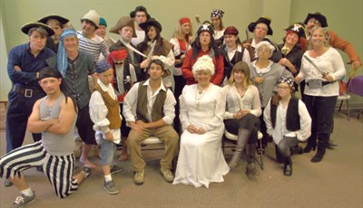 by: Submitted Photo  - Cast members from front left are, Colton Carson, Bryce Gibson, Alexander Benham, Riley Gibson, Maridee Gregory, Kaitlyn Monchamp, and Marsha Casey. Back left,  Garreth Davis, Zeb Bemrose, Carl Benham, Kellian Moore, Jacob Jones, John Casey, Clay Gibson, Stephanie Whiteside, Emilee Gregory, Anne Raines, Rachel Detres, Jillian Sutherlin, Joy DeHaan, Lory Sutherlin, Steve Gibson and Teri Drew.