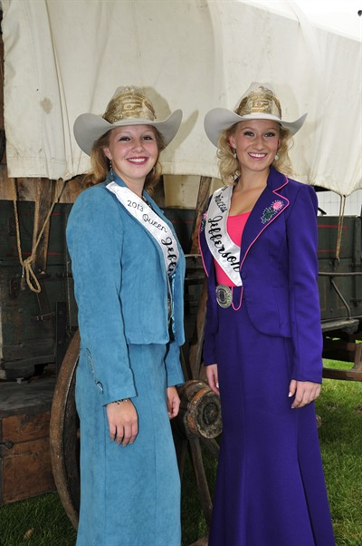 by: Photo by Bill Vollmer - Queen Lindsay Soliz, left, and Princess Maddie Smith will preside over the fair and rodeo.