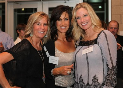 by: Photo by Lisa Dubisar - Ronica Comingore, left, Dee Poland and Heidi Boyle enjoy themselves at the MAC Bash.