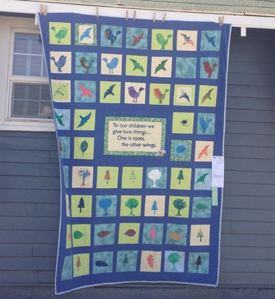 by: Submitted Photo  - The Children's Learning Center is raffling off this quilt at its art show.