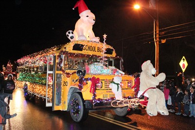 by: Holly Gill - The School District 509-J bus Barn's float won the Best Overall Trophy.
