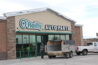 by: Photo By Tony Ahern - O'Reilly Auto Parts is preparing for an early February opening.