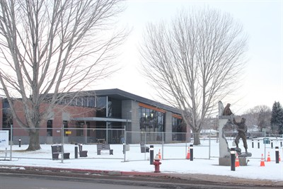 by: Photo by Holly M. Gill - The new Madras City Hall-Police Station will open in January.