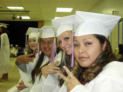 by: Photo By Troy Foster - MHS grads from left, Dezarae Dews, Becky Sampson, Heather Fultz, and Monica Cuevas.