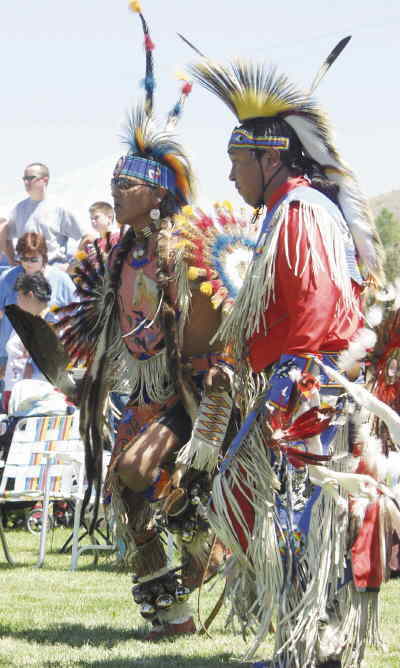 by: Photo By Susan Matheny - Dancers during Grand Entry on Sunday at Pi-Ume-Sha.