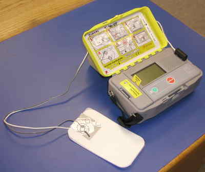 by: Photo By Susan Matheny - Automatic defibrillators can be used in emergencies by laymen.