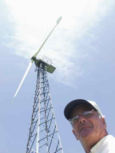 by: Photo By Troy Foster - Stephen Hurn says his new windmill isn't blight on the landscape.
