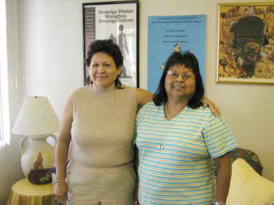 by: Photo By Susan Matheny - Executive Director Lucinda George, left and Outreach Coordinator Debra Kalama staff the Indian Country Coalition office in Madras.