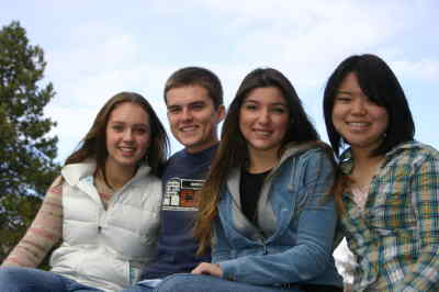 by: Photo By Susan Matheny - Madras High exchange students, from left, Karlotta Rupprecht, Jakub Kierzkowski, Esra Alpay and Eriko Akiyama.