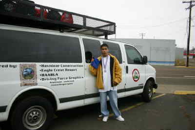 by: Photo By Christina M. Crockett - Central Oregon Boxing Club's Jovony Medina stands in front of the club's new van. Medina is the lone boxer of the club to qualify for the National Silver Gloves Tournament in Kansas in February. The club will be holding a fundraiser later this month.
