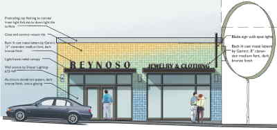 by: Conceptual design of Reynoso Jewelry provided by Hennebery Eddy Architects - Reynoso Jewelry is one of seven businesses which will undergo an exterior renovation as part of the Madras Revitalization Committee's second phase of the downtown revitalization project.