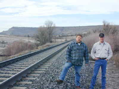 by: Submitted Photo - Gateway Rock president Loren Stills, left, and partner Bob McDonald at the site of the spur.