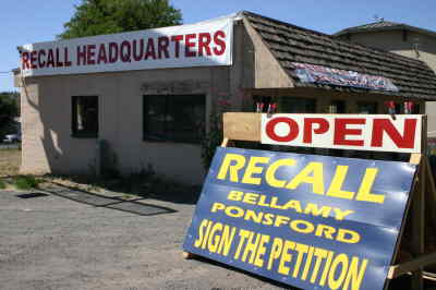 by: Photo By Holly M. Gill - The Measure 37 Committee has set up its recall headquarters on Southwest Highway 97.