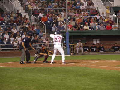 by: Photo courtesy of Portland Seadogs - Jacoby Ellsbury at bat during his first game with the Portland Seadogs.