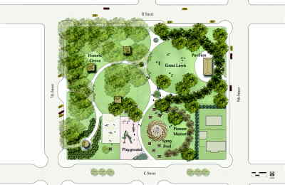 by: Illustration by Walker Macy - Sahalee Park as envisioned by consultanting firm Walker Macy of Portland.