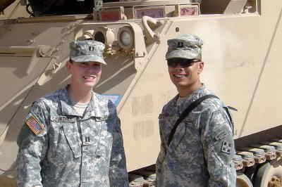 by: Submitted Photo - Captains April and John Courtney in Iraq.