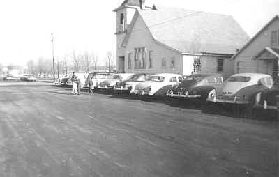 by: Submitted Photo - A 1948 picture of the old Madras First Christian Church.