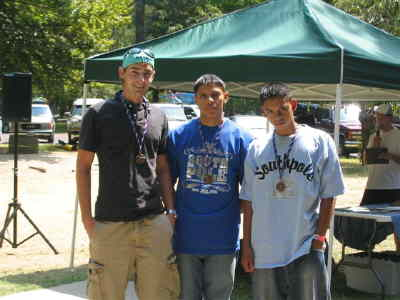 by: Submitted Photo - MHS JROTC triathlon contestants Jeff Walston, left, Sergio Aguirre and Sam Aguirre.