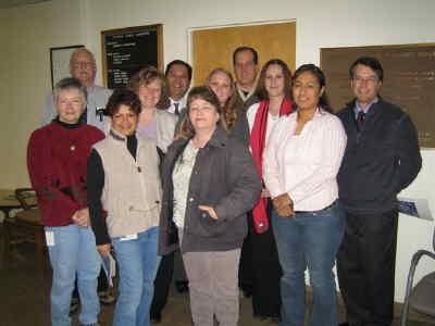 by: Submitted Photo - Members fo the Domestic Violence Team, from back left, Jim Epley, Annette Hillman, Brad Mondoy, Kristina Spitz, Dan Farrester, Tina Farrester. Front, Pam Hays, Lucy Ennis, Lillie Zable, Carino Bautista and Peter Deuel.