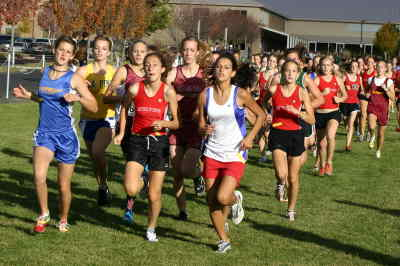 by: Photo By Gary Lindberg - Madras' Brittney Devore ran with the leaders at the Crook County Invitational. The freshman eventually finished eighth.