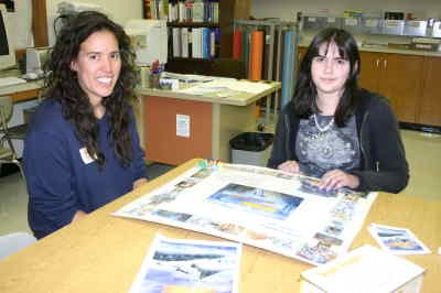 by: Photo By Susan Matheny - Becky Taillon of Bend Research, left, checks out the