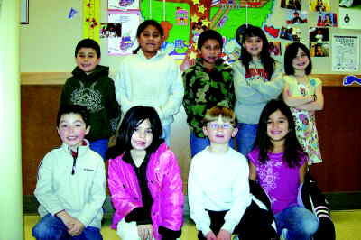 by: Photo By Debbie Lyons  - Culver Elementary bos top winners, from front left, Joseph Russo, Dracy Pate, Jordan Bender, Elizabeth Bautista. Back, Cruzito Sevilla, Stacey Alonso, Hector Leal, Samantha Symons and Joie VanAlstyne.