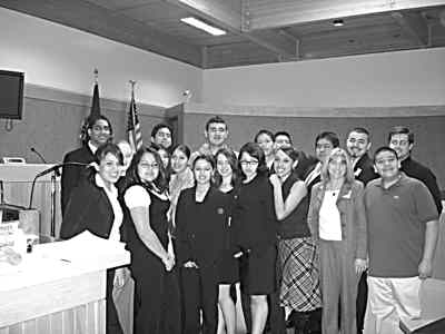 by: Submitted Photo - Mock Trial Team, from back left, Amar Patel, Rogelio Galaviz, Javier Pineda, Daniel Bueno, Daniel Serrano, Eric Leon, Andrew Saldana, and Jefferson County Deputy District Attorney Robert Ickes. Middle row, Samantha Brierley, Anayelid Serrano, Yvette Escalante. Front, Ana Serrano, Jessica Blanco, Cristy Davalos, Andrea Marcotte, Isabel Ponce, Ema Reynoso, advisor Suzanne Callahan, Jason Garcia.