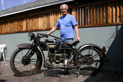 by: Photo By Susan Matheny - Steve Jansen is restoring a 1918 Henderson motorcycle that's been in his family for decades.