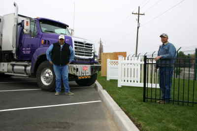 by: Photo By Susan Matheny - Dan Edwards, left, and Steve Reed are ready to help customers at Mike's Fence and Mobile Mix.