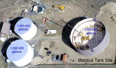 by: Deschutes Valley Water District photo - Deschutes Valley Water District is adding a 3-million-gallon water tank at the Metolius site, located off U.S. Highway 97, near Eureka Lane.