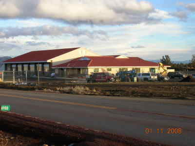 by: Photo By Gail Martin - The new fire station at Crooked River Ranch is expected to be finished in March.
