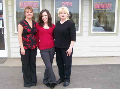 by: Photo By Debbie Lyons - Beetle Bailey Burgers employees Penny Scarborough, left, Nicky Koening, and owner Carolyn