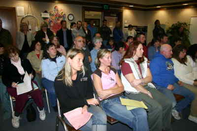 by: Photo By Susan Matheny - The concern was evident on the faces of those attending  the Monday night meeting of the 509-J School Board.