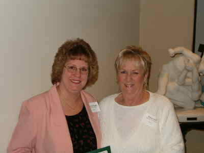 by: Submitted photo - Award recipient Deb Thinnes, left, with Debbie Snell, Mountain View Home Health and Hospice director.