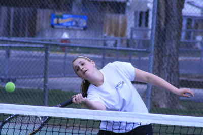 by: Photo By Gary Lindberg - At whatever angle it took, Madras second singles player Cassi Drew found a way to return a shot in her final match of the White Buffalo Invitational on Saturday. Drew  won her match against a Barlow foe in a tiebreaker.