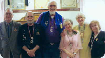 by: Submitted Photo - From left, Ron Blann, Larry Sanderson, Barlow Manning, Bettyjean Chittenden, Liz Blann and Teddie Schmidt.