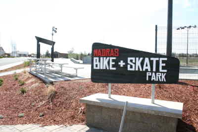 by: Photo By Holly M. Gill - The skate park has cameras and a new sign.