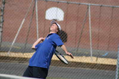 by: Photo By Gary Lindberg - Madras senior Jon Hutchins will be competing at the Intermountain Conference district tourney in Bend next week as as the Buffs' number one singles entry.