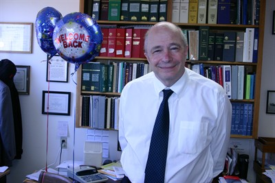 by: Photo By Susan Matheny - Balloons welcome attorney Don Reeder back to the office on June 13.
