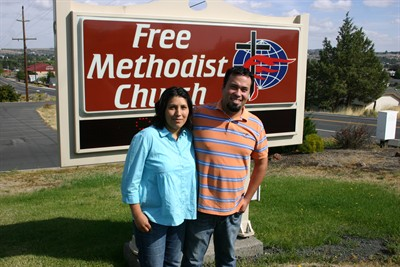 by: Photo by Susan Matheny - Pastors Edgar and Olga Garcia will serve Hispanic families at the Madras Free Methodist Church.