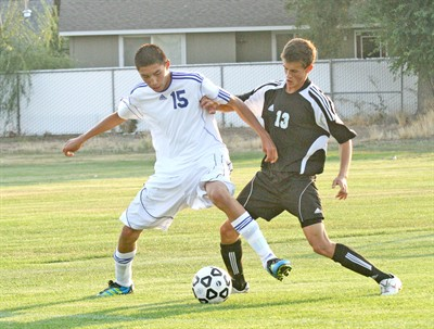 by: Photo by Joe McHaney - Jhaylen Yeahquo of Madras gains possession of the soccer ball in a recent Class 4A boys soccer game.