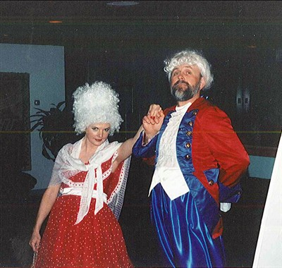 by: Submitted Photo  - Meredith and Dick Junge attend the first Cherry Tree Celebration dressed as George and Martha Washington.
