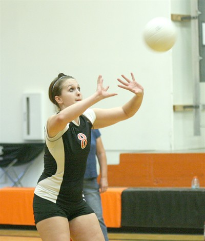 by: Photo By Joe McHaney - Culver senior Samantha Donnelly passes the volleyball during a recent Class 2A Tri-River League home match.