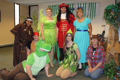 by photo by susan matheny us bank employees dressed up as peter pan