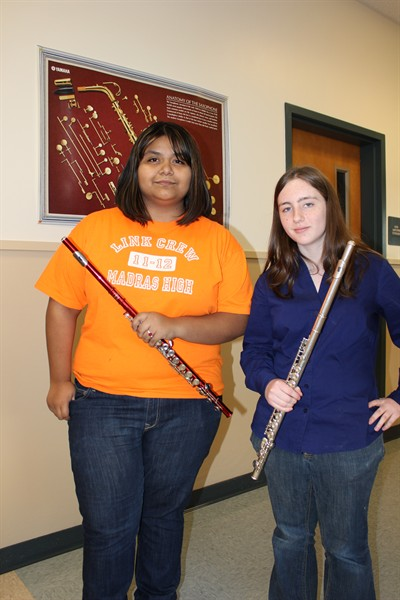 by: Submitted Photo - Student conductor Laura Garcia, left, and logo designer Natalie Shipp.